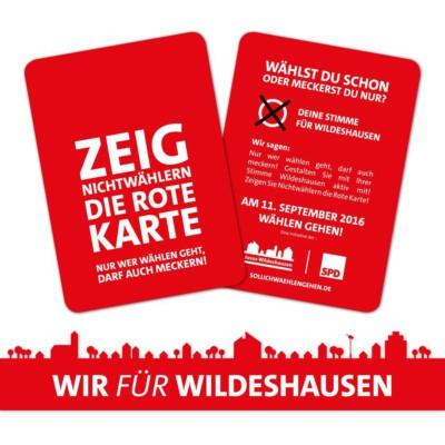 Zeig Nichtwählern die Rote Karte