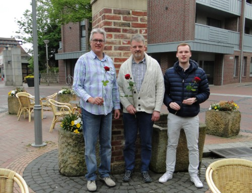 Wir haben wieder Blumen zum 1.Mai verteilt